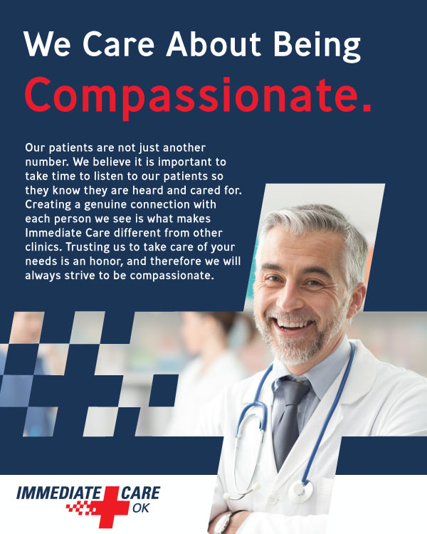 We Care About Being Compassionate - Immediate Care of Oklahoma