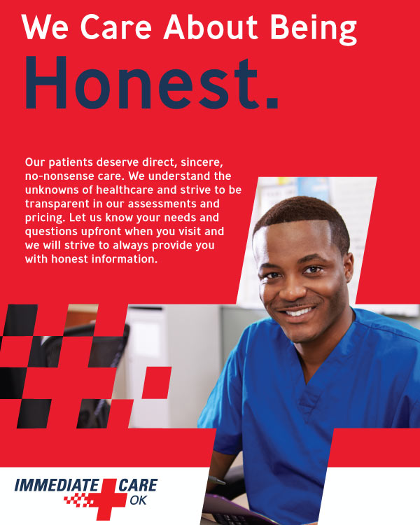 We Care About Being Honest - Immediate Care of Oklahoma